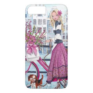 Capa iPhone 8 Plus/7 Plus Biking no exemplo positivo de Iphone 7 da menina