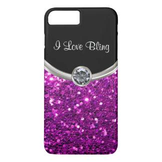 Capa iPhone 8 Plus/7 Plus Bling à moda roxo