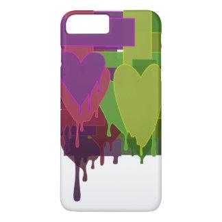 Capa iPhone 8 Plus/7 Plus Blocos da cor que derretem corações