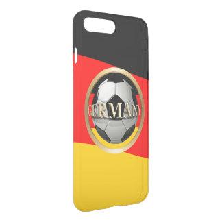 Capa iPhone 8 Plus/7 Plus Bola de futebol de Alemanha com cores alemãs da