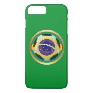 Capa iPhone 8 Plus/7 Plus Bola de futebol de Brasil/Brasil