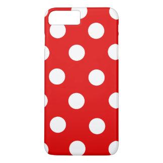 Capa iPhone 8 Plus/7 Plus Bolinhas vermelhas e brancas