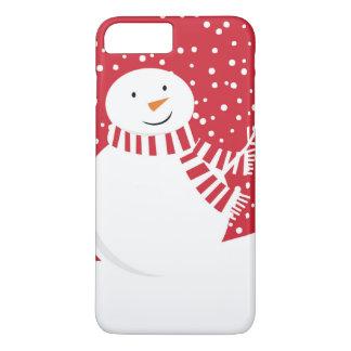 Capa iPhone 8 Plus/7 Plus boneco de neve contemporâneo moderno do inverno