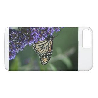 Capa iPhone 8 Plus/7 Plus Borboleta de monarca na flor