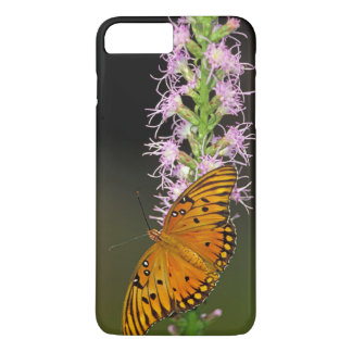 Capa iPhone 8 Plus/7 Plus Borboleta do Fritillary do golfo na flor de
