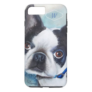 CAPA iPhone 8 PLUS/7 PLUS BOSTON PRETO E BRANCO TERRIER
