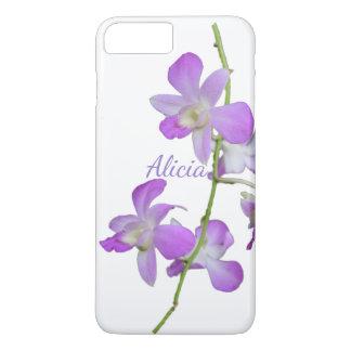 Capa iPhone 8 Plus/7 Plus Branco roxo da orquídea tropical