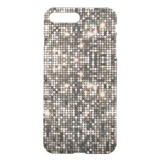 Capa iPhone 8 Plus/7 Plus Brilho & fundo de prata elegantes do disco