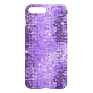 Capa iPhone 8 Plus/7 Plus Brilho geométrico roxo do disco do falso