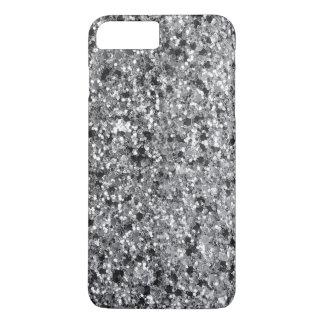 Capa iPhone 8 Plus/7 Plus Brilho preto & cinzento elegante GR 1 do falso