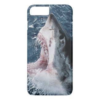 Capa iPhone 8 Plus/7 Plus Cabeça do grande tubarão branco