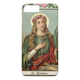 Capa iPhone 8 Plus/7 Plus Cabo cor-de-rosa da palma dos rosas do St.