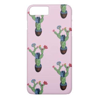Capa iPhone 8 Plus/7 Plus Cacto espinhoso com flores