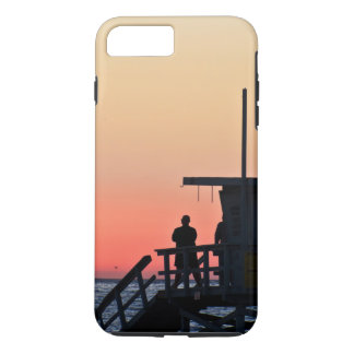 Capa iPhone 8 Plus/7 Plus Caixa da praia da estação do Lifeguard do por do
