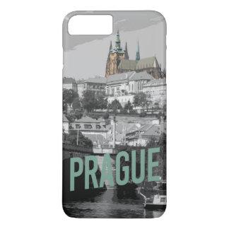Capa iPhone 8 Plus/7 Plus caixa do castelo de Praga do iPhone (4,5,6,7,8)