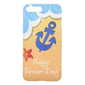 Capa iPhone 8 Plus/7 Plus Caixa do defletor do iPhone da praia do verão