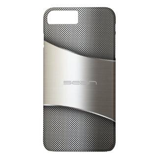 Capa iPhone 8 Plus/7 Plus caixa do ouro com placa e os parafusos perfurados