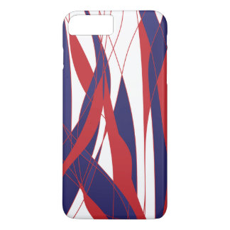 Capa iPhone 8 Plus/7 Plus Caixa do telemóvel de Red&Blue