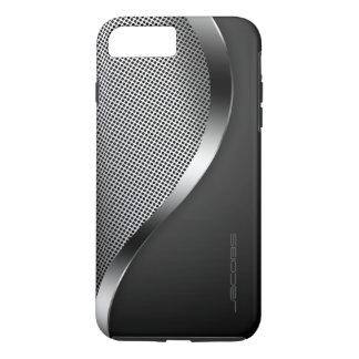 Capa iPhone 8 Plus/7 Plus caixa escura com placa e os parafusos perfurados