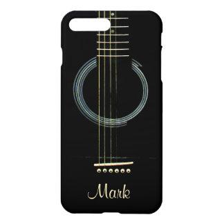 Capa iPhone 8 Plus/7 Plus Caixa preta personalizada do iPhone 7 da guitarra