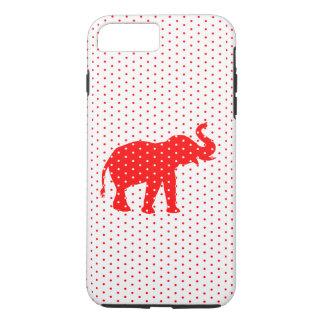 Capa iPhone 8 Plus/7 Plus Caixa vermelha afortunada do iPhone 6 do elefante