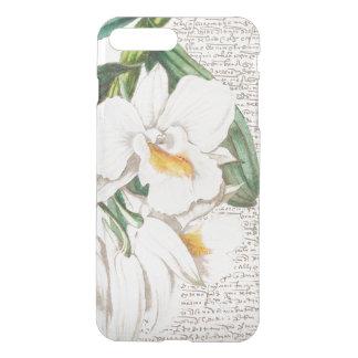 Capa iPhone 8 Plus/7 Plus Caligrafia branca da orquídea