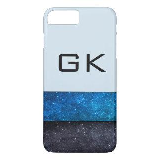 Capa iPhone 8 Plus/7 Plus Camadas da galáxia do monograma