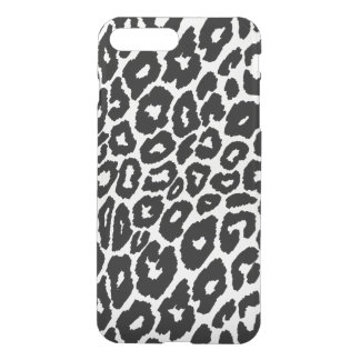 Capa iPhone 8 Plus/7 Plus Cambiador do fundo do impressão do leopardo claro