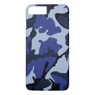 Capa iPhone 8 Plus/7 Plus Camo azul, caso positivo do iPhone 7 mal lá