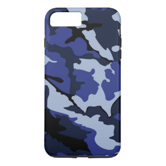 Capa iPhone 8 Plus/7 Plus Camo azul, caso positivo do iPhone 7 resistentes