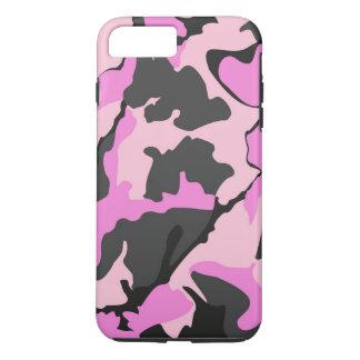 Capa iPhone 8 Plus/7 Plus Camo cor-de-rosa, caso resistente positivo do