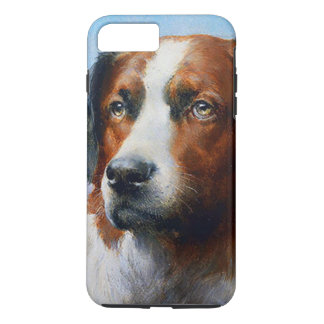 Capa iPhone 8 Plus/7 Plus Cão de St Bernard do vintage