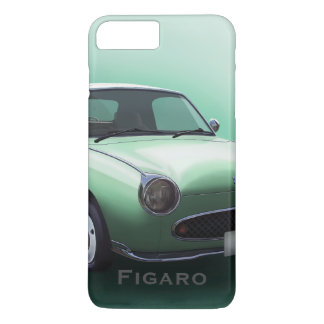 Capa iPhone 8 Plus/7 Plus Carro de Nissan Figaro do verde esmeralda