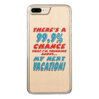 Capa iPhone 8 Plus/ 7 Plus Carved 99,9% As PRÓXIMAS FÉRIAS (preto)