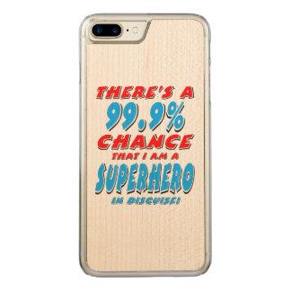 Capa iPhone 8 Plus/ 7 Plus Carved 99,9% Eu sou um SUPER-HERÓI (o preto)