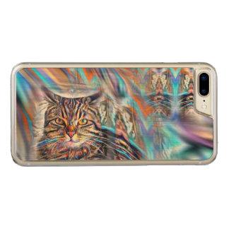 Capa iPhone 8 Plus/ 7 Plus Carved À deriva no gato tropical do por do sol das cores