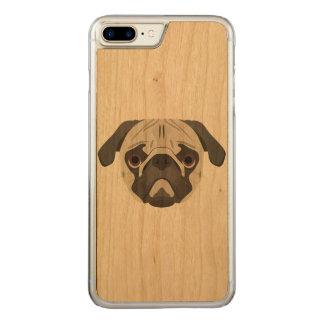 Capa iPhone 8 Plus/ 7 Plus Carved A ilustração persegue o Pug da cara