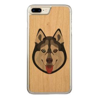 Capa iPhone 8 Plus/ 7 Plus Carved A ilustração persegue o rouco Siberian da cara