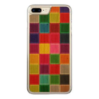 Capa iPhone 8 Plus/ 7 Plus Carved A madeira colorida da cereja cinzelou o caso