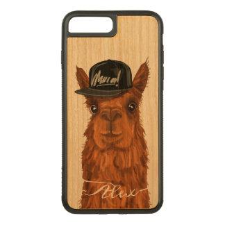 Capa iPhone 8 Plus/ 7 Plus Carved Alpaca legal e engraçada com um chapéu do