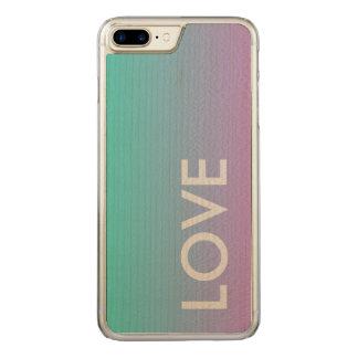 Capa iPhone 8 Plus/ 7 Plus Carved Amor do oceano toda a caixa magro da madeira do