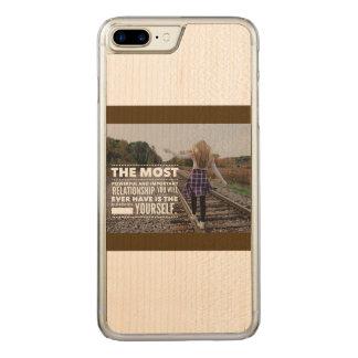 Capa iPhone 8 Plus/ 7 Plus Carved Amor você mesmo