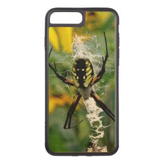 Capa iPhone 8 Plus/ 7 Plus Carved Aranha impressionante da esfera da foto na Web