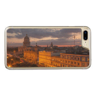 Capa iPhone 8 Plus/ 7 Plus Carved Arquitectura da cidade no por do sol, Havana, Cuba