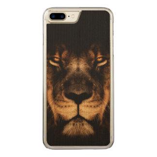 Capa iPhone 8 Plus/ 7 Plus Carved Arte africana da cara do leão