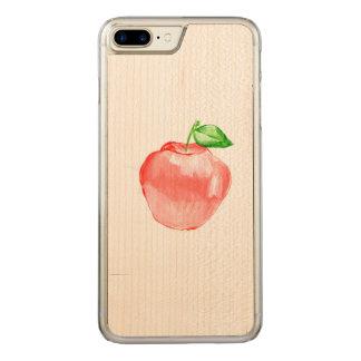 Capa iPhone 8 Plus/ 7 Plus Carved Arte de madeira do exemplo do bordo magro positivo