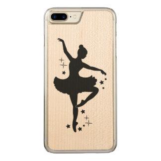 Capa iPhone 8 Plus/ 7 Plus Carved Bailarina com as estrelas na silhueta