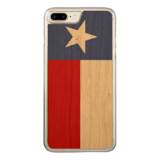 Capa iPhone 8 Plus/ 7 Plus Carved Bandeira azul e vermelha da safira de Texas