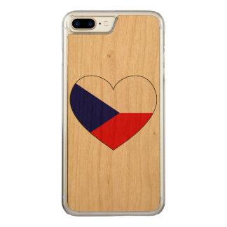 Capa iPhone 8 Plus/ 7 Plus Carved Bandeira da república checa simples