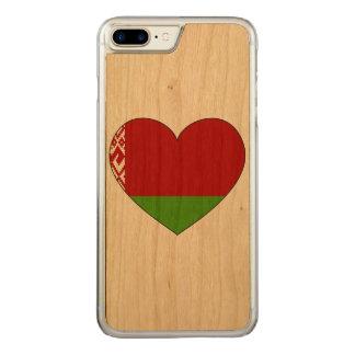 Capa iPhone 8 Plus/ 7 Plus Carved Bandeira de Belarus simples